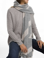 White + Warren Cashmere Intarsia Travel Wrap