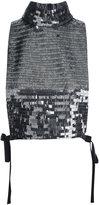 Maison Margiela high shine blouse - women - Silk/Polyester/Spandex/Elastane/Sequin - 44