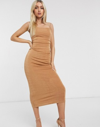 Significant Other neptune slinky maxi dress in sand