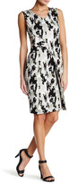 HUGO BOSS V-Neck Sleeveless Print Dress