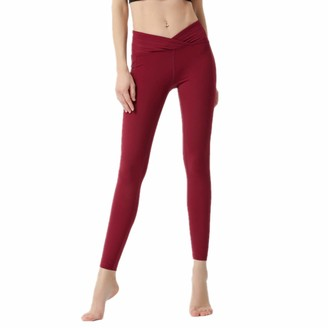 NIGHTMARE Womens Yoga Pants Women Fitness Yoga Pants Running Gym Workout Leggings Workout Running Stretching Running Workout L Red
