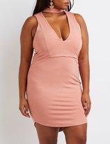 Charlotte Russe Plus Size Choker Detail Bodycon Dress