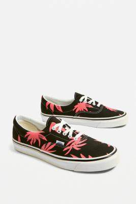 Vans Era Anaheim Factory 95 DX Black and Pink Floral Trainers - black UK 7 at Urban Outfitters
