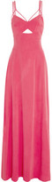L'Agence Elsa Cutout Stretch-Silk Gown