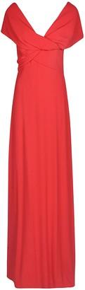 Giambattista Valli Rear Zip Gathered Plain Dress
