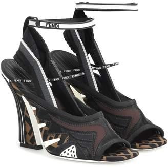 Fendi FFreedom mesh and rubber sandals