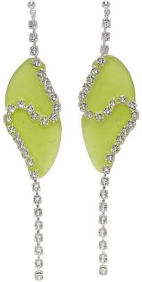 Vanessa Schindler Green Strass Chain Earrings