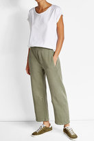 Current/Elliott Wide-Leg Cotton Pants