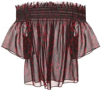 Saint Laurent Printed silk top