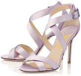FSJ Rhinestones Wedding Shoes High Heels Ivory Bridal Shoes with Cross Straps Size 8
