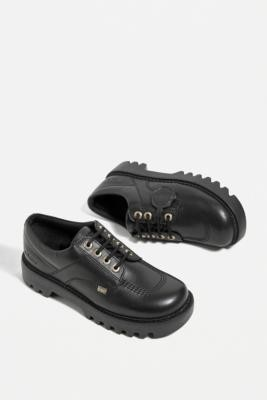 Kickers Black Kizziie Derby Shoes - Black UK 3 at Urban Outfitters