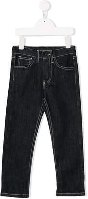 Touriste contrast stitching skinny jeans