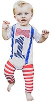 Birdy Boutique 1st Birthday Boy Outfit First Bow Tie Suspenders Leg Warmers One Set 12-18 months