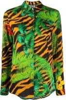 Versace jungle print long sleeve shirt