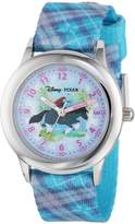 Disney Kids' W000265 Merida Stainless Steel Time Teacher Printed Strap Watch