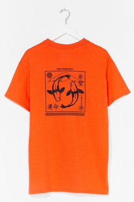 Nasty Gal Womens Sent With Love Graphic Tee - Orange - S