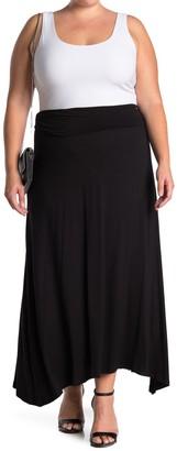 Bobeau Side Slit Maxi Skirt (Plus Size)