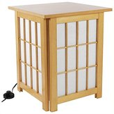 Oriental Furniture Simple Good Quality Floor Lamp, 19-Inch Hokkaido Japanese Nightstand Shoji Wooden Lattice Rice Paper Lantern