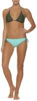 Helen Jon - Reversible String Bikini Top With Braid-Fatigue