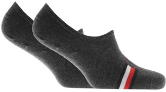 Tommy Hilfiger Two Pack Trainer Socks Grey