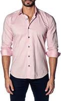 Jared Lang Textured Sport Shirt, Red