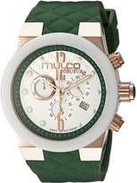 Mulco Women's MW5-2552-483 Couture Analog Display Swiss Quartz Green Watch