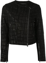 Federica Tosi embroidered biker jacket