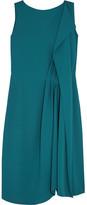 Maison Margiela Pleated Crepe Dress - Teal