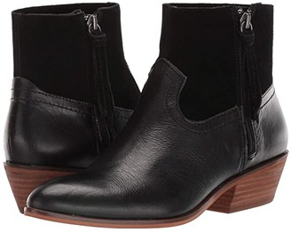 Frye Rubie Zip (Black Smooth Leather/Suede) Women's Boots