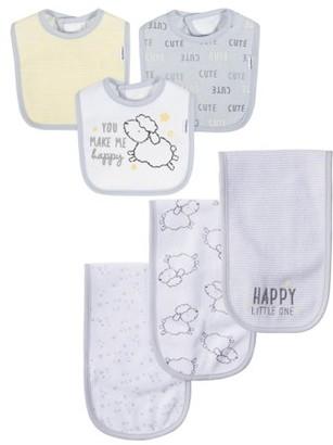 Gerber Baby Boys or Baby Girls Gender Neutral Terry Bibs and Burp Cloths, 6-Pack