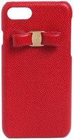 Salvatore Ferragamo Embossed Leather Iphone 7 Cover