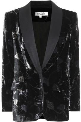 Diane von Furstenberg Tommy floral velvet blazer