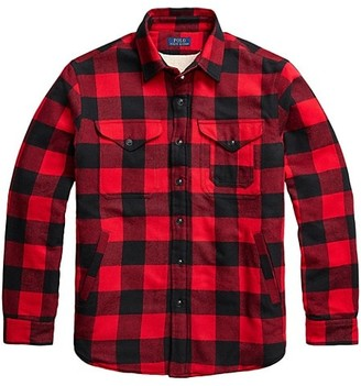 Polo Ralph Lauren Faux Shearling-Lined Plaid Overshirt