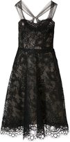 Monique Lhuillier mesh flower lace dress