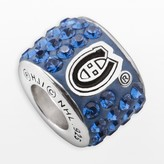 Swarovski Logoart LogoArt Montreal Canadiens Sterling Silver Crystal Logo Bead - Made with Crystals