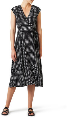 David Lawrence Square Spot Wrap Dress