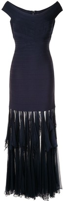 Herve Leger Draped Hem Dress