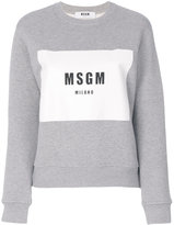 MSGM logo jumper - women - Cotton/Viscose - XS