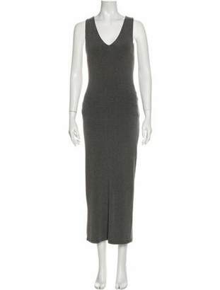 Alice + Olivia V-Neck Long Dress w/ Tags Grey