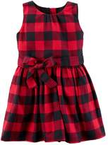 Carter's Toddler Girl Buffalo Check Flannel Dress