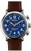 Shinola 'The Runwell Chrono' Leather Strap Watch, 41mm