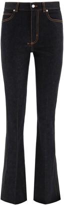 Alexander McQueen High Waist Flared Jeans