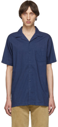 Onia Blue Linen Vacation Shirt