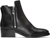 3.1 Phillip Lim Black Croc-Embossed Shearling Alexa Boots