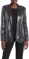 T Tahari Metallic Sequined Jacket