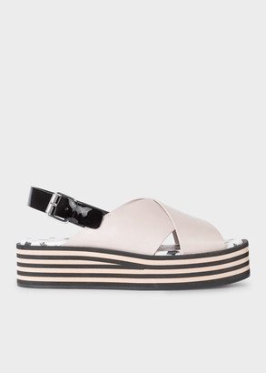 Paul Smith Women's Grey Leather 'Becca' Platform Sandals
