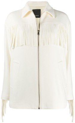 Pinko Fringe Detail Jacket