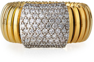 Milani Alberto 18k Tubogas Small Diamond Band Ring, Size 8