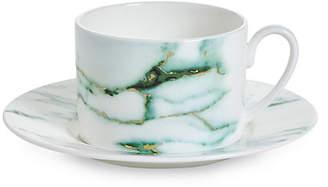 Prouna Prouna Marble Tea Cup & Saucer Set - Verde