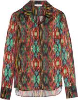 Matthew Williamson Sweetie Ragadang printed silk-chiffon shirt
